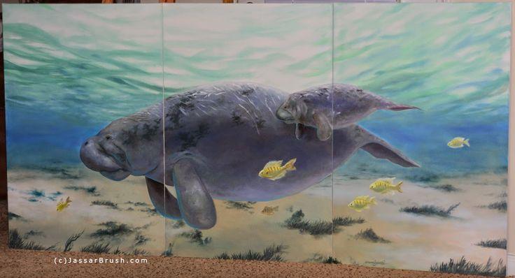 Jassar's Blog: Manatee Painting