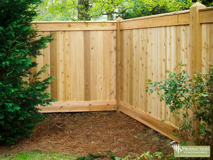 Wood Privacy Fence Designs | ... .com for per foot pricing on this wood fence and many more