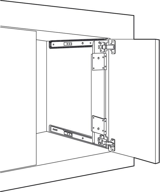 Pocket Door System Accuride 123 35 Mm Hinges Included In The Hafele America Shop Pocket Doors Pivot Doors Kitchen Cabinets Hinges