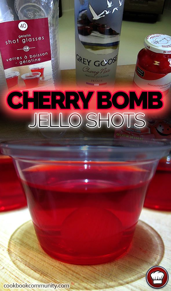 17 Reasons why the Amish were RIGHT! about Cherry Bomb Jello Shots! No, but for real.. See these BOMB Cherry Bomb Jello Shots, make them, then down them. Easy to Follow Photos and Recipe inside.