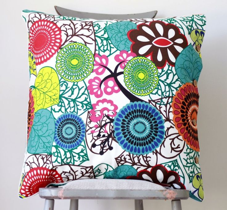 africa large cushion cover abstract blue green red teal lime euro scatter case in home - Home Decor Cushions