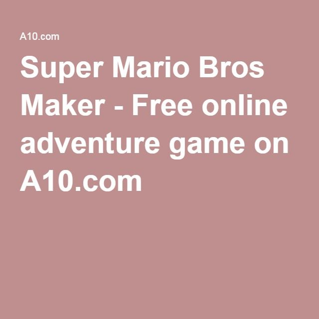 super mario old games free