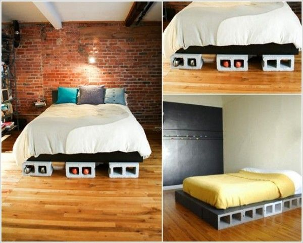 DIY Concrete Block Bedframe DIY Upcycled Furniture