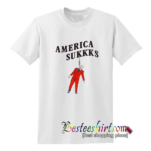 America Sukkks T-Shirt from besteeshirt.com This t-shirt is Made To Order, one by one printed so we can control the quality.