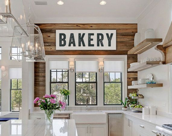 Bakery Sign, Large Canvas Art, Kitchen Decor, Fixer Upper Sign Joanna  Gaines Inspired