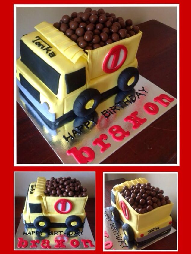 Truck lorry semi tonka malteaser birthday cake