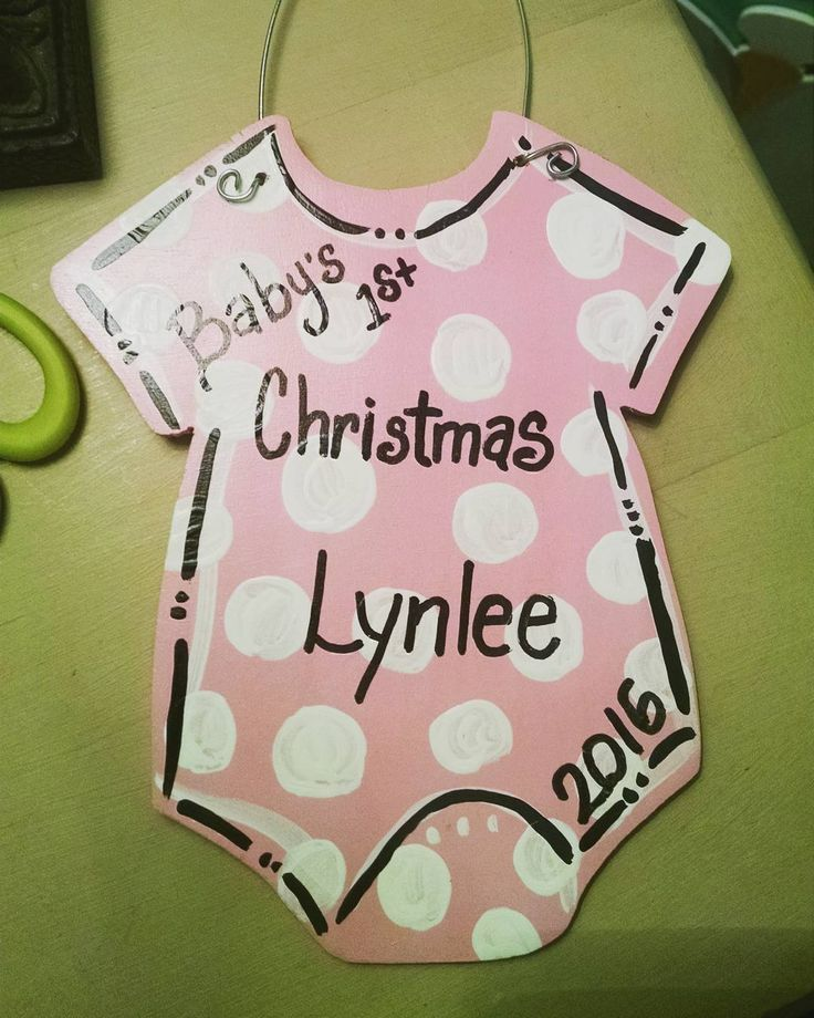 """6 Likes, 1 Comments - @mylatestprojectbyliz on Instagram: """"Baby's first Christmas ornaments was a hit this year at craft show. #baby #ornaments #christmas…"""""""