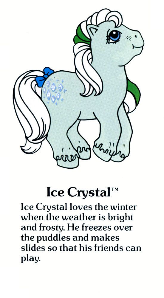 My Little Pony Ice Crystal fact file ...