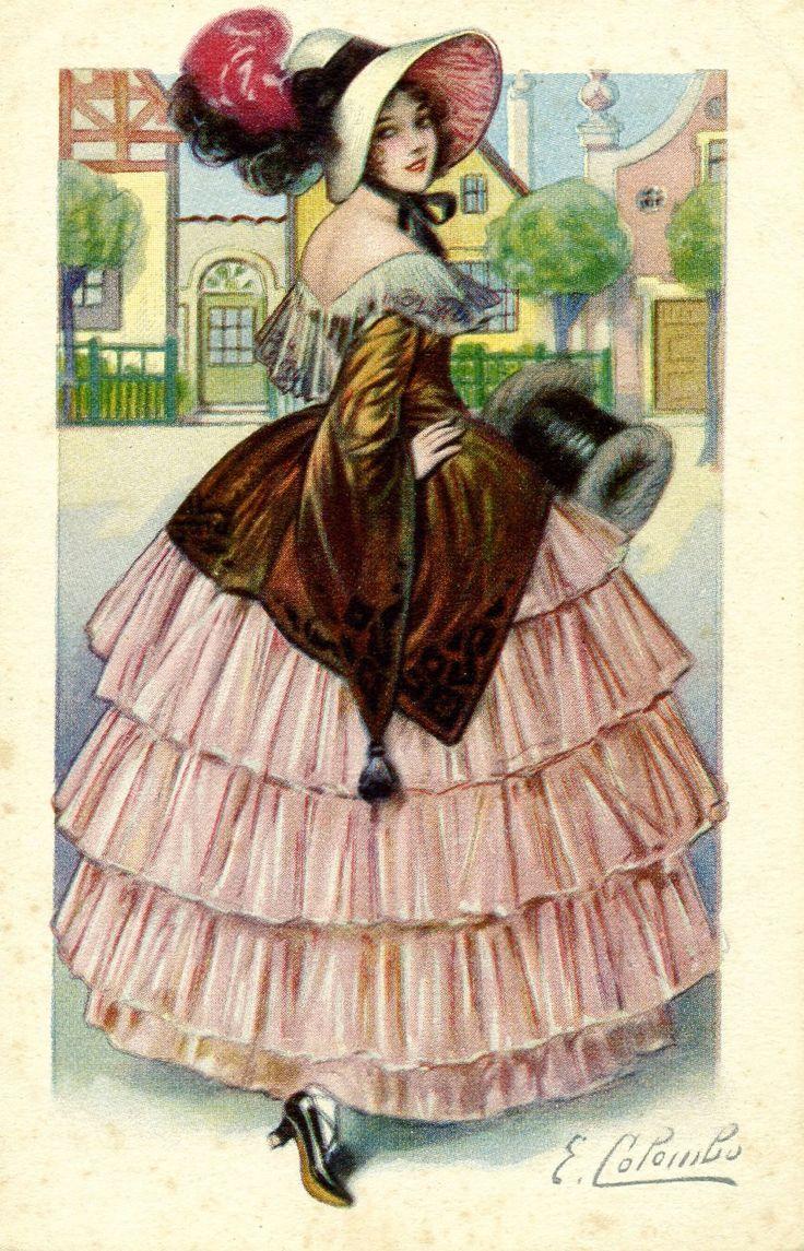 тюнинг, мода на старых открытках хорош, режет