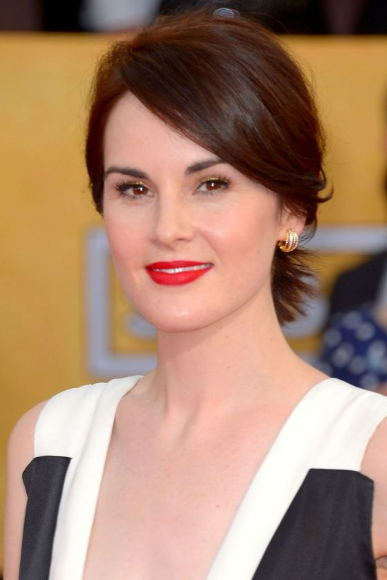 Michelle Dockery Pins Her Short Hair Up For The Screen Actors Guild Awards, 2014