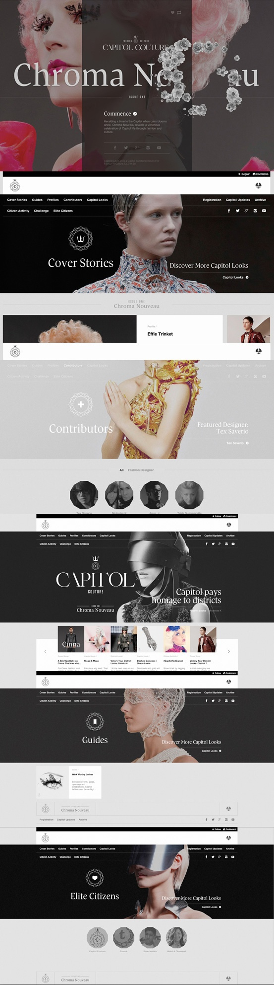Capitol Couture #webdesign #inspiration