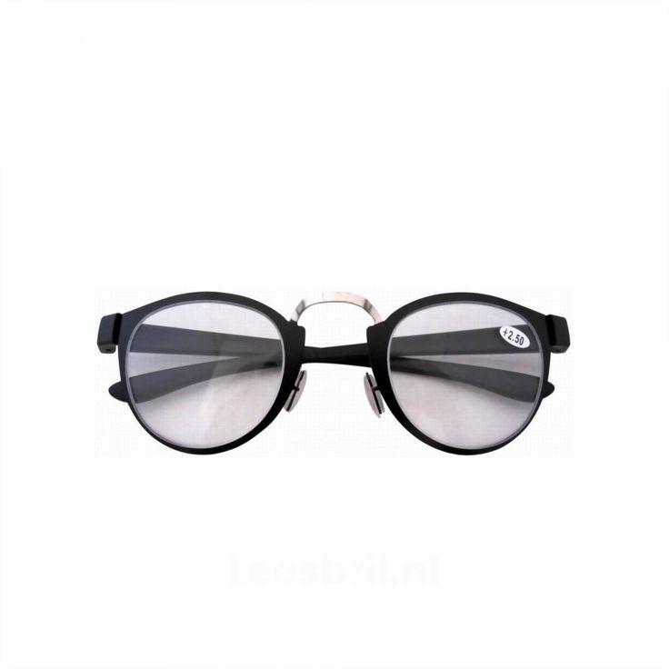 SilverBlack. Unisex Retro Leesbril