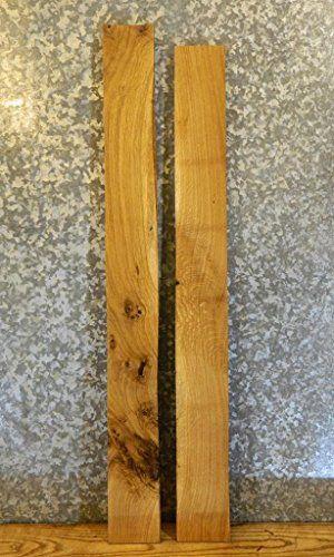 2- Rustic Kiln Dried Wood Shelf Slabs/White Oak Lumber Boards 32978-32979 T: 1 1/16'', W: 4 7/8'', L: 48 1/16'' - 32978-32979