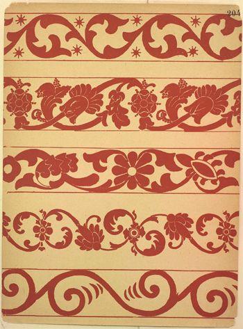 Древнерусский орнамент с X по XVII века на парчах, набойках и других тканях