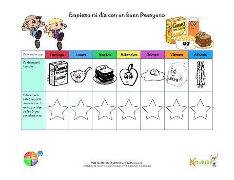 Haga divertido el seguimiento de los objetivos saludables for Comida saludable para ninos