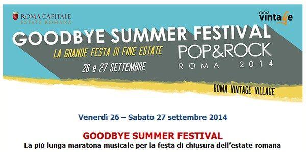 Goodbye Summer Festival - RomaEasy.itRomaEasy.it