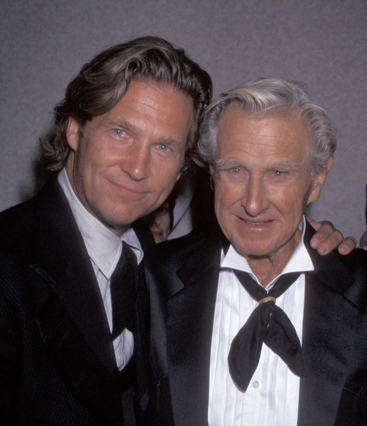 Lloyd & Jeff Bridges (Now)Son: actor and producer        Note: Lloyd Bridges died in 1998. This photo was taken a couple years prior in 1996.