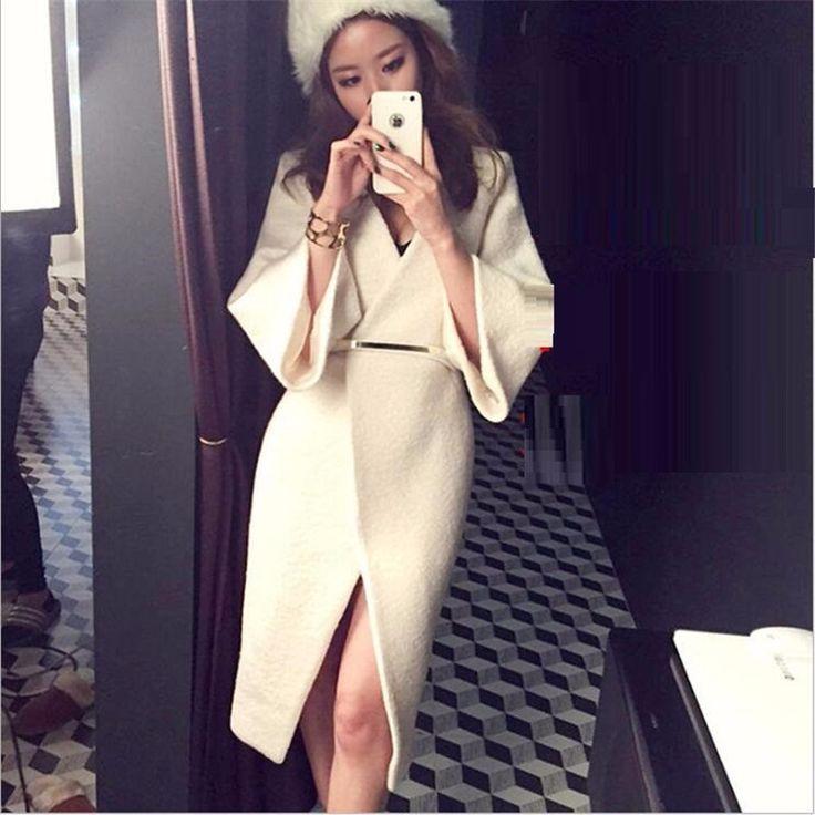 Winter Wool Coat Women New 2016 Fashion Sexy Cotton-padded Wool Coat Jacket Wome... 1