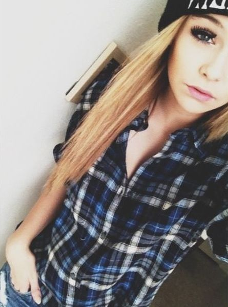 ((Acacia clack. Brunette and blond)) hey I'm Riley. I'm 17 and single. I like flannels, beanies, the color red, and hunting. Oh and I love softball and dance. I suck at singing. It's just not my thing. Introduce?