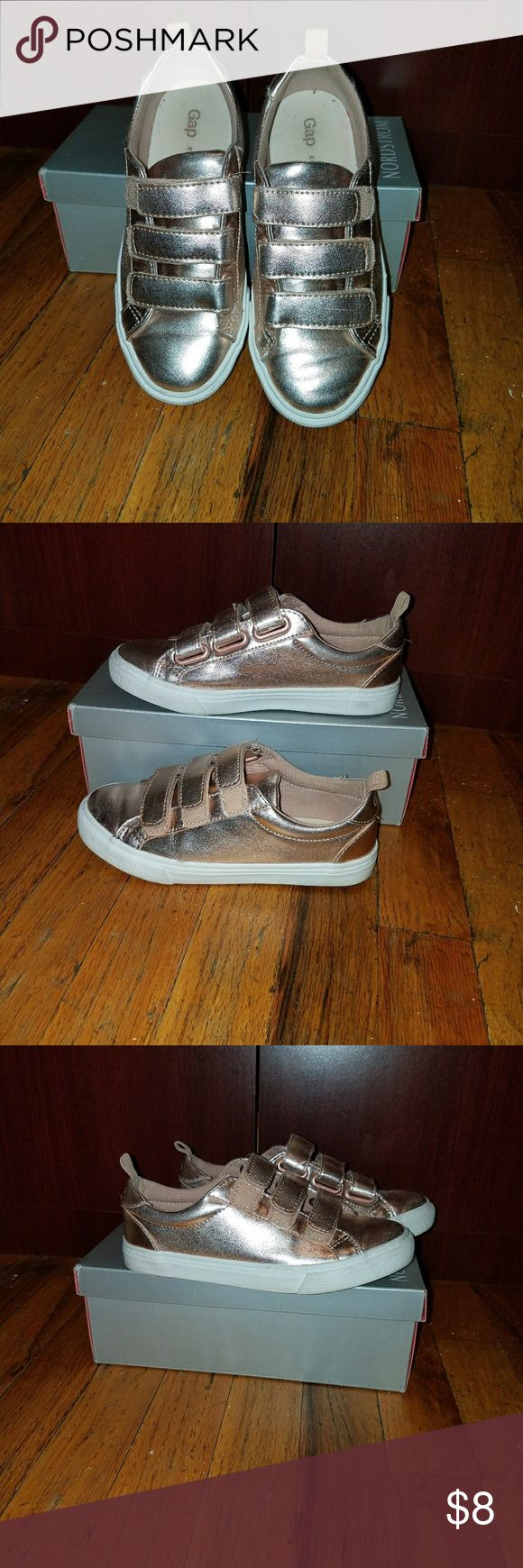 Girls sneakers Awesome Girls sneakers  rose gold velcro straps in great condition GAP Shoes Sneakers