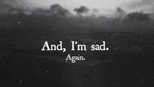 You are nt even thinking about me..made me the saddest...