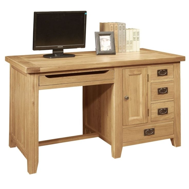 Oak Effect Hideaway Computer Desk