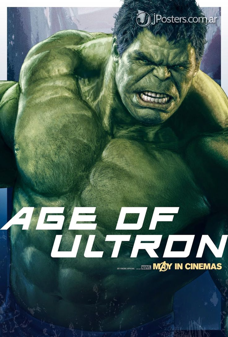 Hulk - New AVENGERS: AGE OF ULTRON Character Promo Posters Revealed