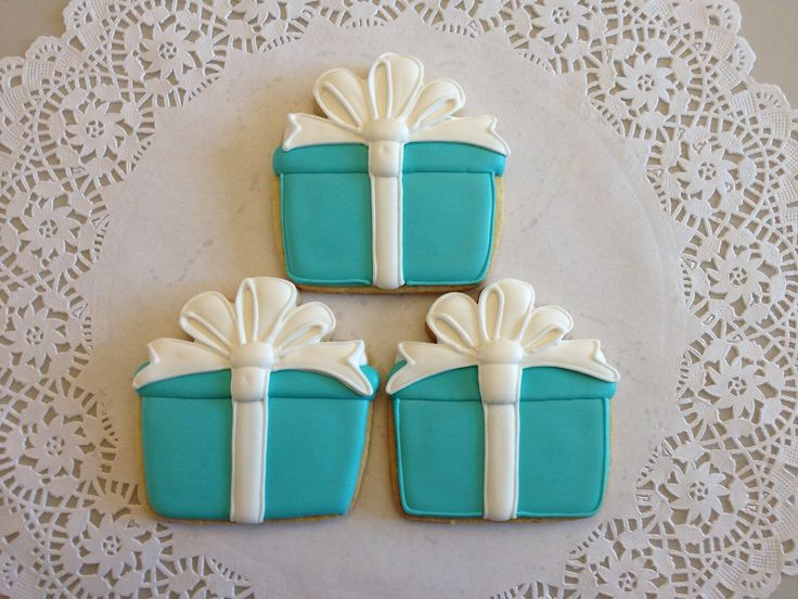 Tiffany Style Gift Box Cookies By Ruthiescookies On Etsy