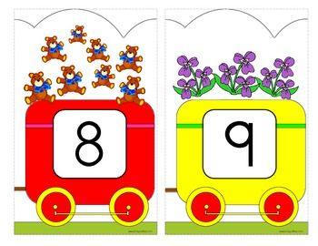 Number Train Wall Decor 1-20