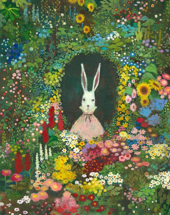 Em Jung .... (I think that Studio Ghibli should do an Alice in Wonderland, I know Cat Returns has that feel and influence but I would still love to see this story played out in that world!)