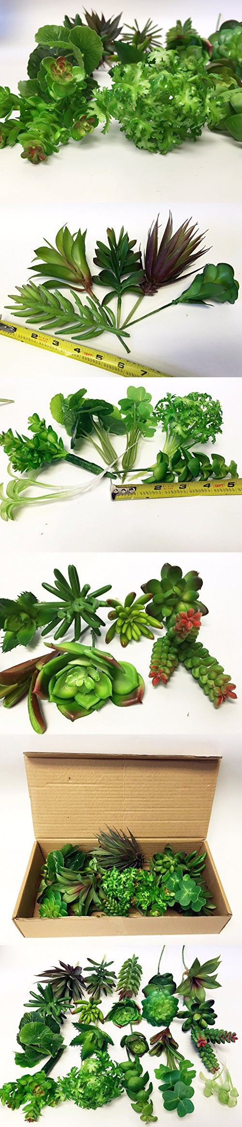 """Mixed Lot of Long Large stems of Artificial Succulents - 20 stems (4.5-6""""/stem)-Perfect for all DIY arrangements"""