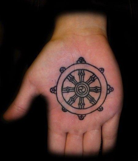 Timón de barco   Pequeños Tatuajes   Manos