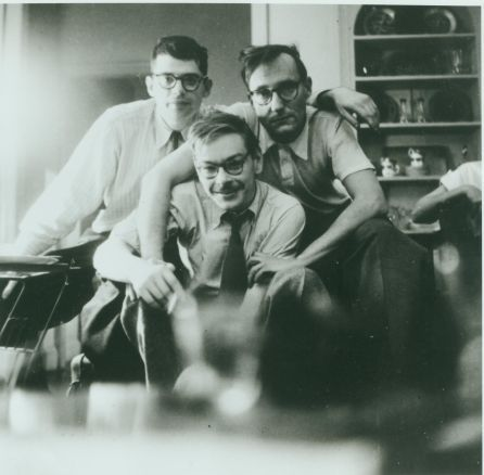 Allen Ginsberg, Lucien Carr, William Burroughs, New York 1953. c. Allen Ginsberg Estate