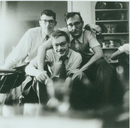 Allen Ginsberg, Lucien Carr, William Burroughs, New York 1953. c. Allen Ginsberg Estate