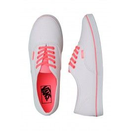 Vans - Authentic Lo Pro Neon Coral/True White - Girl Shoes - Streetwear Online Shop - Impericon.com Europe