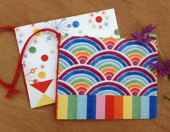 Father's Day Pair Of Rainbow Art Gift Card Dots by naturewrap, $6.00