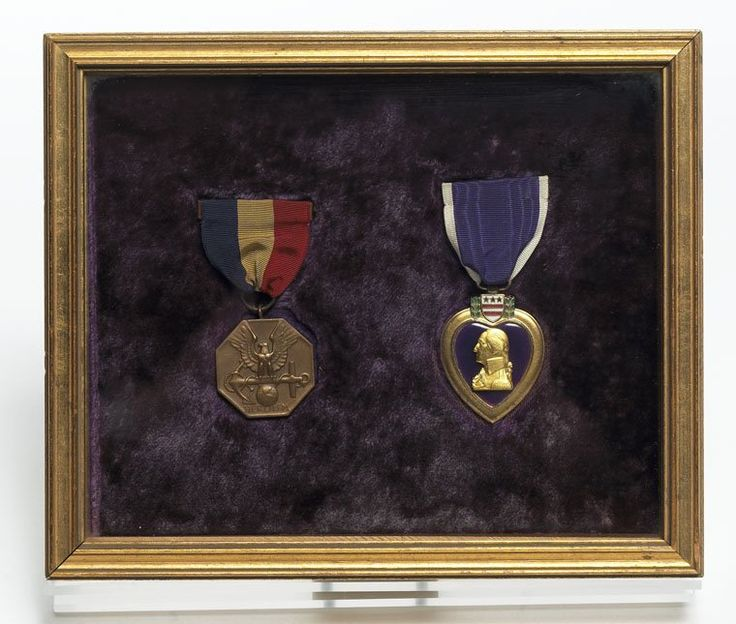 Lt. John F. Kennedy received this Navy Marine Corps Medal & Purple Heart for his heroics and injuries sustained during WWII. #VeteransDay