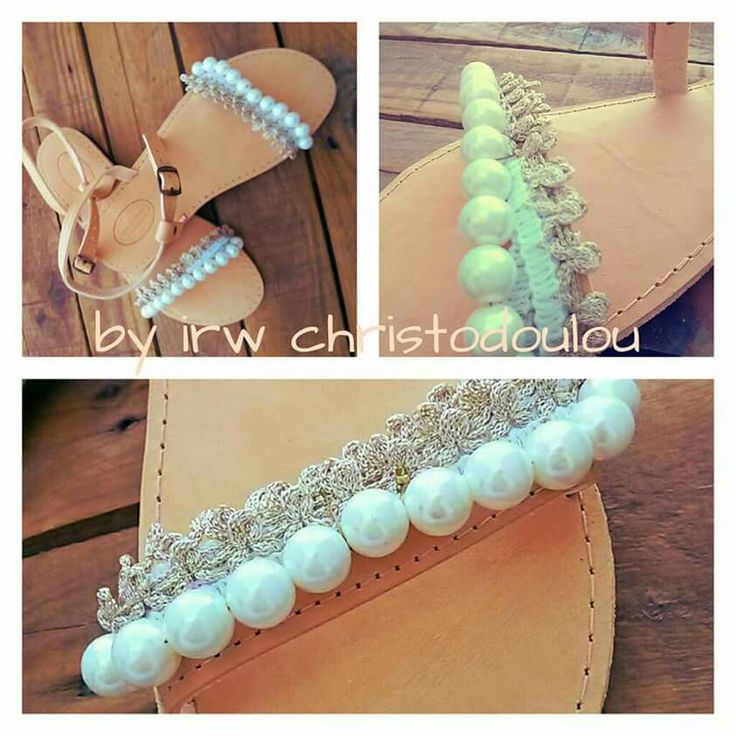 #new #sandals #pearls #mpez #white #leather #fb #group #handmade #by #irw #christodoulou #for #gift #and #wedding #bride #birthday #women