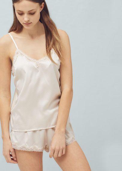 Pyjamas et chemises de nuit pour Femme | MANGO France