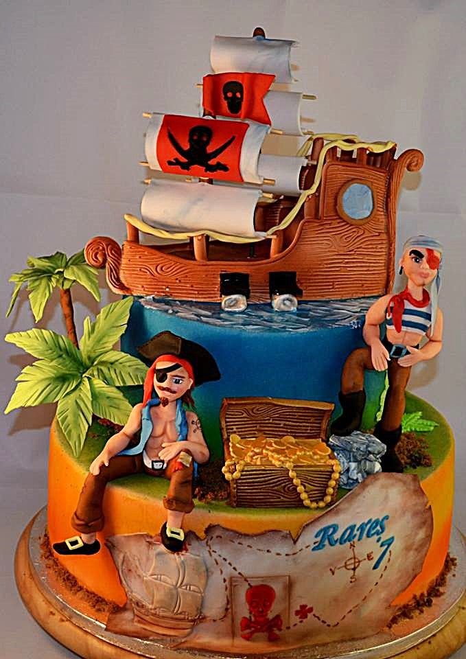 Pirates cake cakes and cookies pinterest pirate for Art cake decoration
