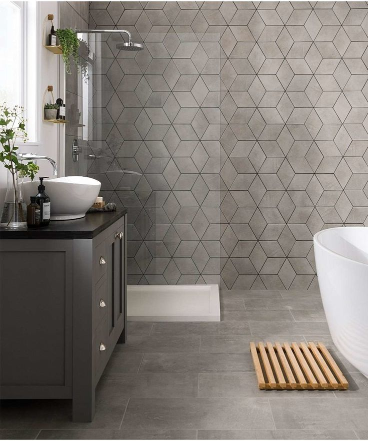 Truth Carrara Grey Diamond Ceramic Tile in 2020 Grey