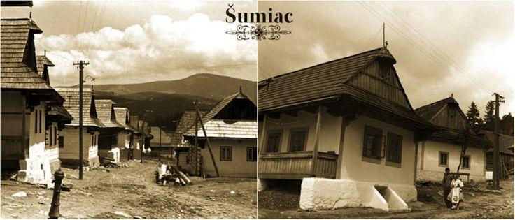 Horehronská architektúra - Šumiac, Slovakia, 50-te roky.