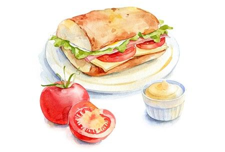 Russian artist Natalia Tyulkina sweet style watercolor wallpaper collection - contains a total of 120 pictures Where food and other 58 wat ....