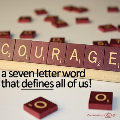 Letter Scrabble Word For Courage