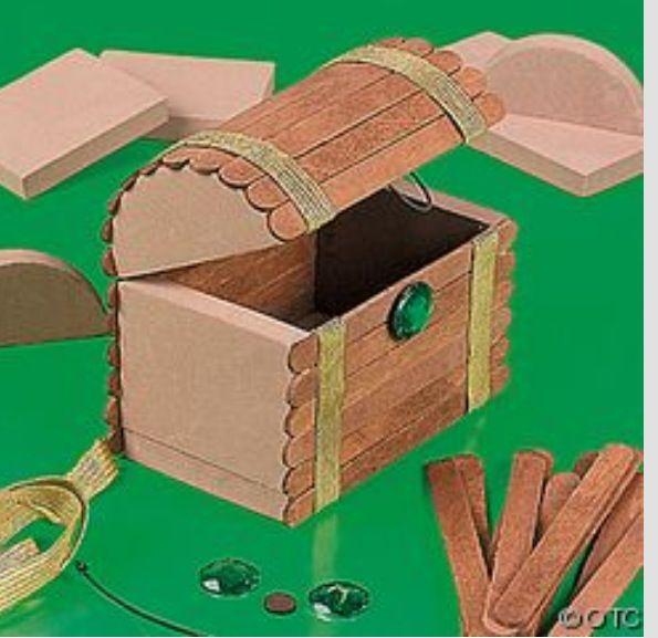Cofre de centro de mesa fiesta tem tica de piratas - Como decorar cajas de madera para centros de mesa ...