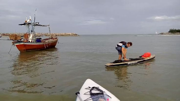 Stand Up Paddling (SUP) Standup paddleboarding - Cha Am, Thailand