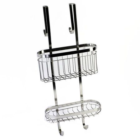 Howards Storage World | Stainless Steel Over the Door Shower Caddy