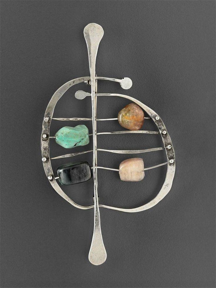 Abacus brooch by Ed Wiener 1950.