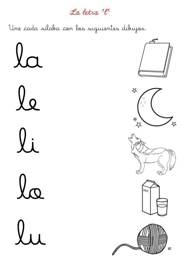 Fichas letras d y l