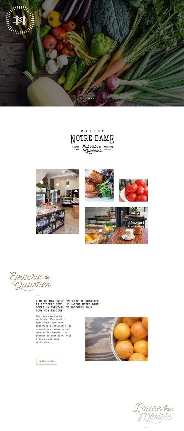 Marché Notre-Dame (More web design inspiration at topdesigninspiration.com) #design #web #webdesign #sitedesign #responsive #ux #ui
